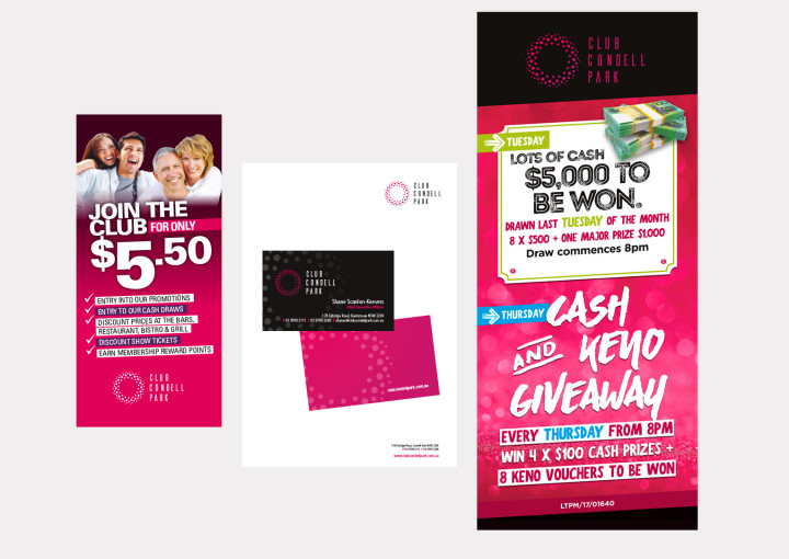 club promotions and stationery