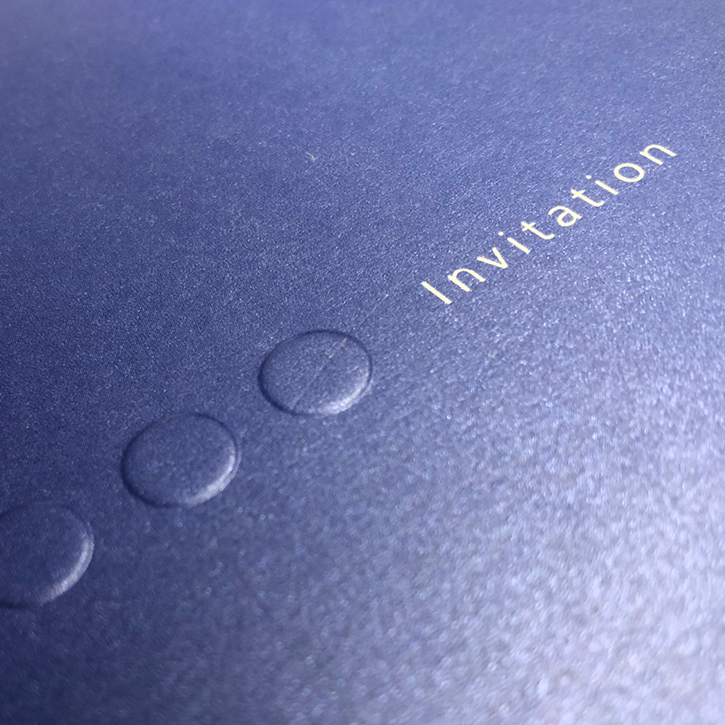 Printed Metallic Shimmer Invitation