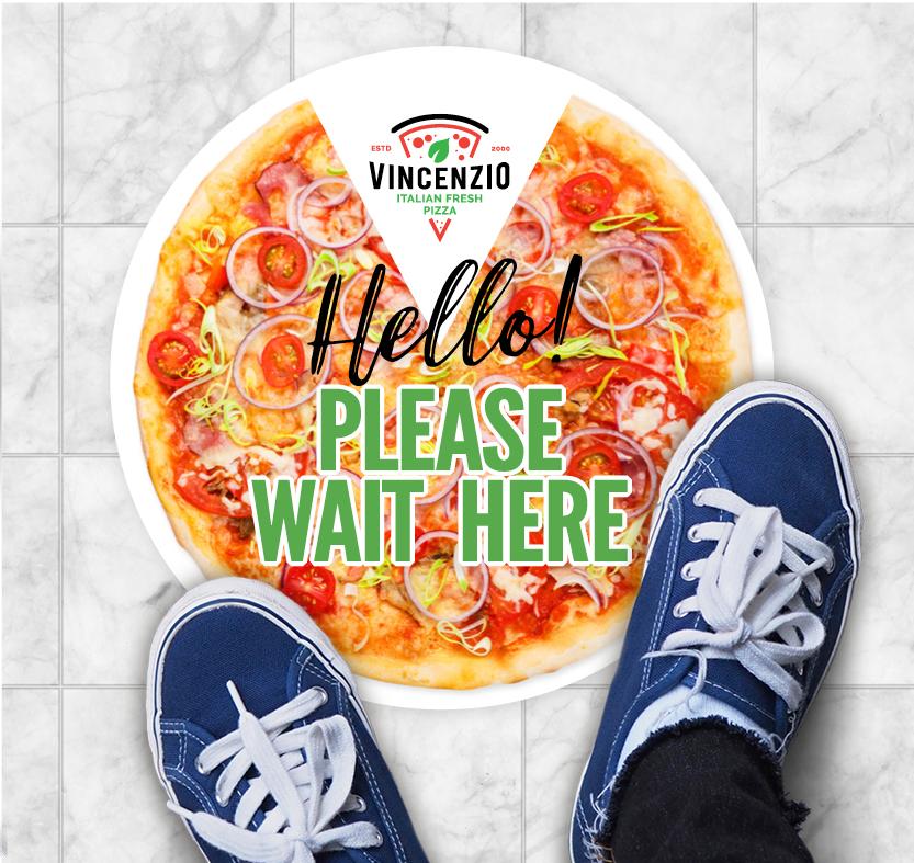 Floor decal Sticker pizza
