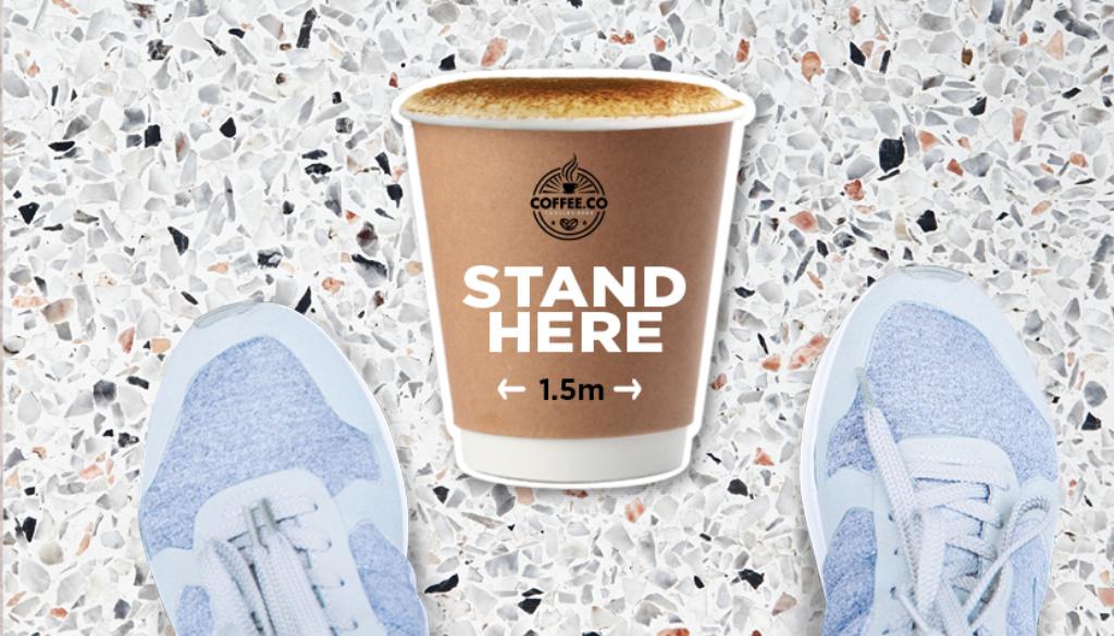 Floor Decal sticker coffee