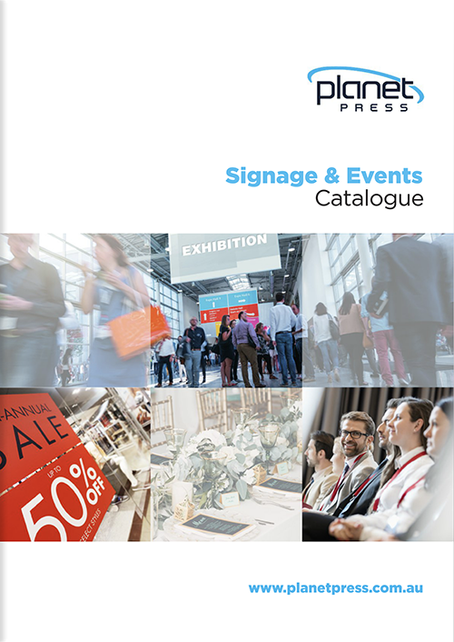 Signage & Events Catalogue - Click through to view